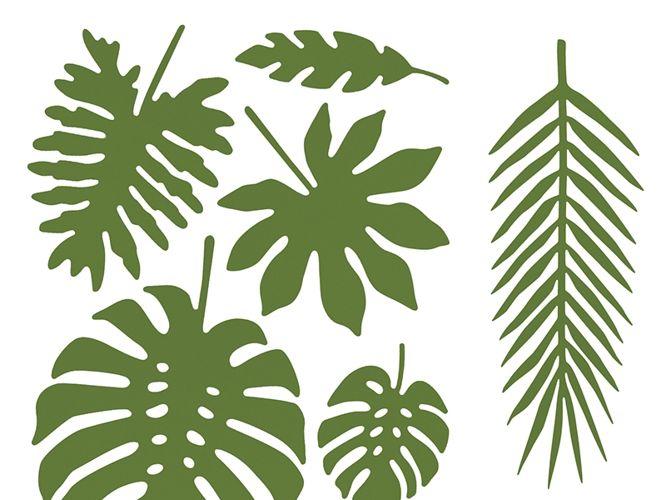 dekoracje papierowe liście tropikalne aloha 21szt