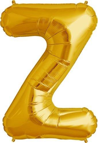 Balon Foliowy Złoty Litera Z Cale 86cm Sklep Partybudzikipl