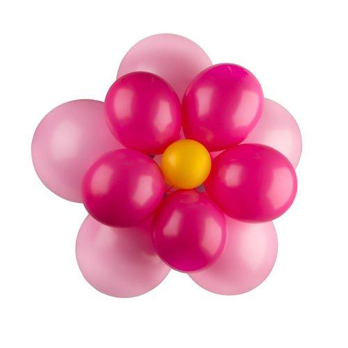 balony lateksowe kwiatek różowy 14szt akcesoria urodzinowe