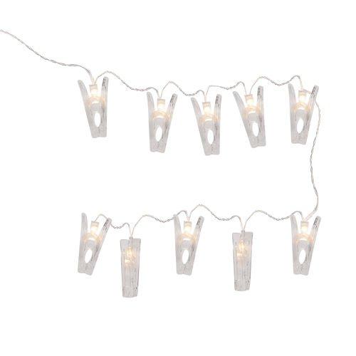 Lampki Dekoracyjne Led Klamerki Bezbarwne 175cm
