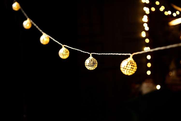 Lampki Dekoracyjne Led Kule Disco 2m