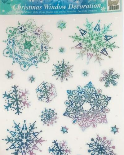 Naklejki Brokatowe śnieżynki Na Szybę święta