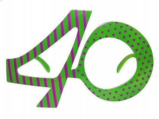 Okulary Urodzinowe 40 Urodziny Zielone Sklep Partybudzikipl