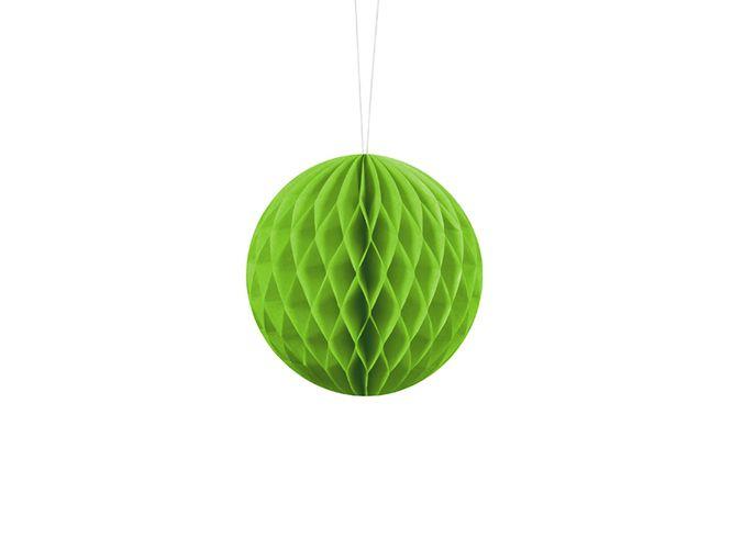 Ozdoba Z Papieru Kula Zielone Jabłko 10cm