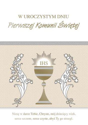 db585ed36c Pamiątka I Komunii Świętej wzór 1 złocona 1szt ...