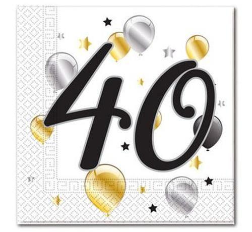 42936e6deee509 Serwetki 40 urodziny balony 33x33cm 20szt | Sklep Partybudziki.pl