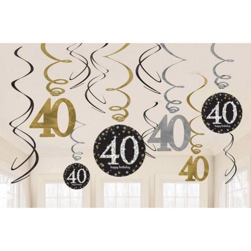 świderki Urodzinowe 40 Urodziny 12szt Sklep Partybudzikipl