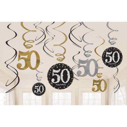 9897f4df688791 Świderki urodzinowe 50 urodziny 12szt | Sklep Partybudziki.pl