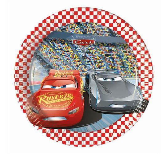 aff61d965 Talerzyki papierowe auta Cars 3 8szt 20cm   Sklep Partybudziki.pl