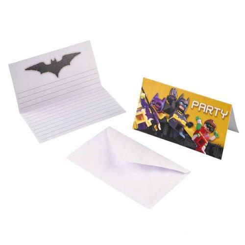 Zaproszenia Urodzinowe Lego Batman 8szt Sklep Partybudzikipl