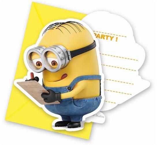 Zaproszenia Urodzinowe Lovely Minionki 6szt Sklep Partybudzikipl