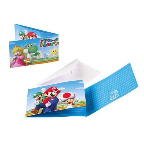 Zaproszenia Urodzinowe Super Mario 8szt Sklep Partybudzikipl