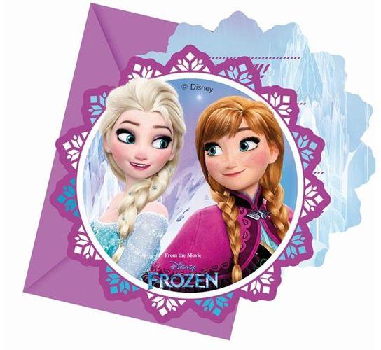 Zaproszenia Urodzinowe Dla Dzieci Frozen 6szt F1 Sklep Partybudzikipl
